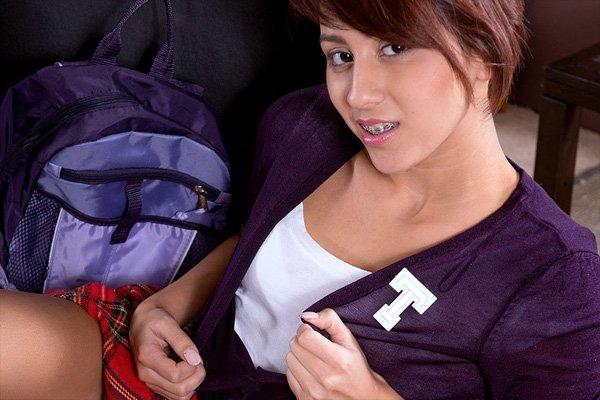 Horny Schoolgirl Tessa Loses Her Uniform